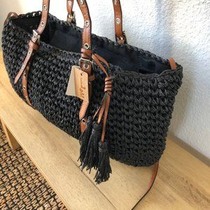 Bali-inspired Straw Tote with Tassels